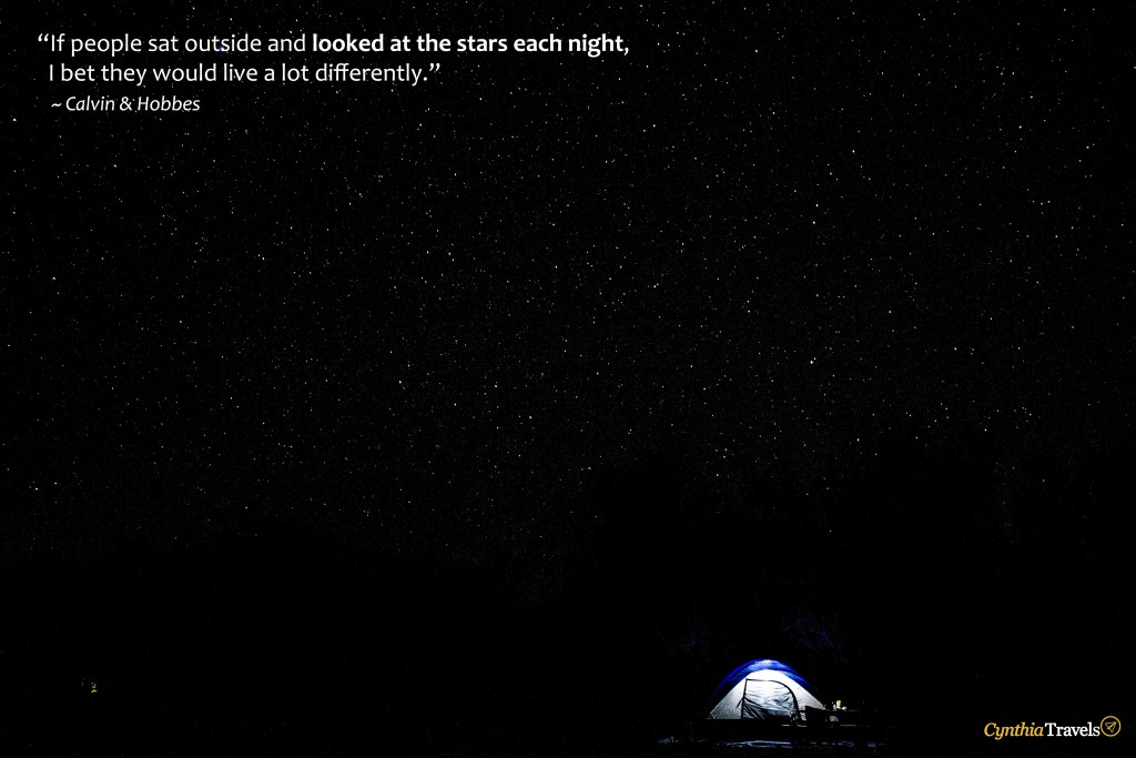 If people sat outside and looked at the stars each night