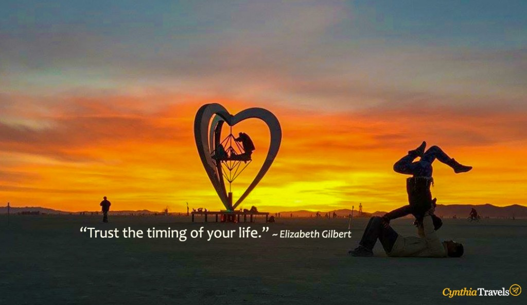 Title w quote - Trust the timing of your life
